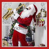 Санта Клаус новогодний костюм мужской в комплекте | Музыкальный, поёт