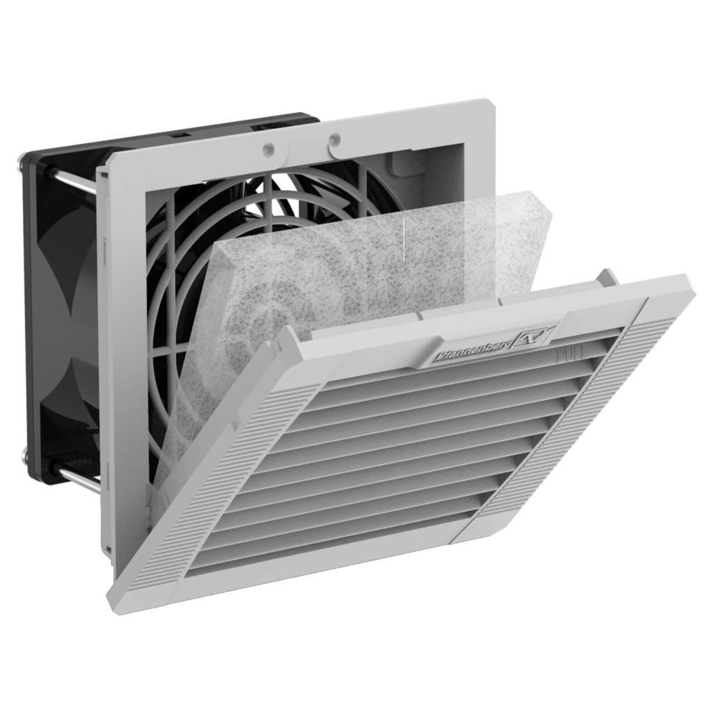 11611101055 Вентилятор с фильтром PF 11.000 230V AC IP54 RAL7035 92x92 мм