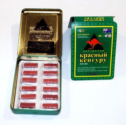 Красный кенгуру виагра средство для повышения потенции, блистер 9800 мг*12 таблеток