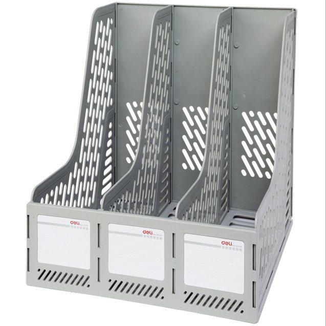 Вертикальный DELI, 3 отделения, серый