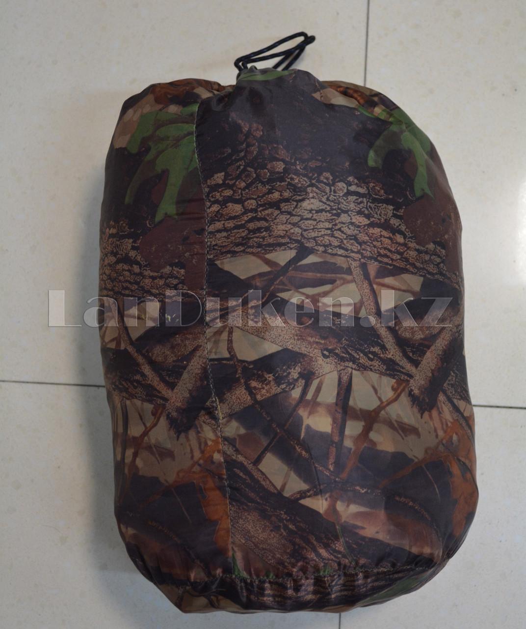 Камуфляжный спальный мешок (под осенний лес) 180х70см с чехлом - фото 3