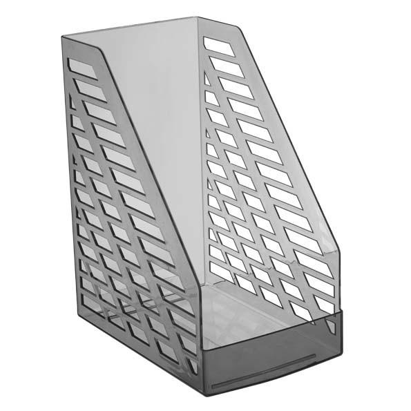 Лоток вертикальный STAMM XXL-ЭКО, ширина 16 см, тонированный серый