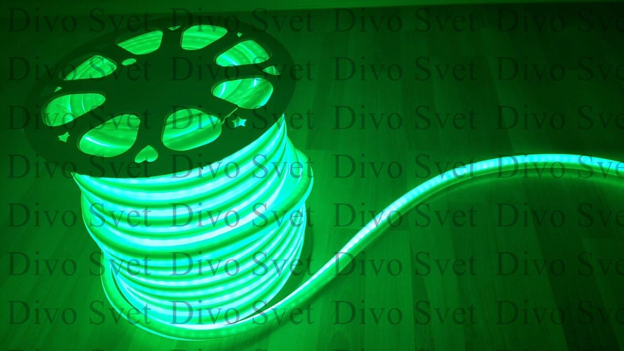 Флекс неон зеленый 1,5*2,5 см SMD. LED FLEX NEON гибкий провод. Холодный неон, неоновый шнур.