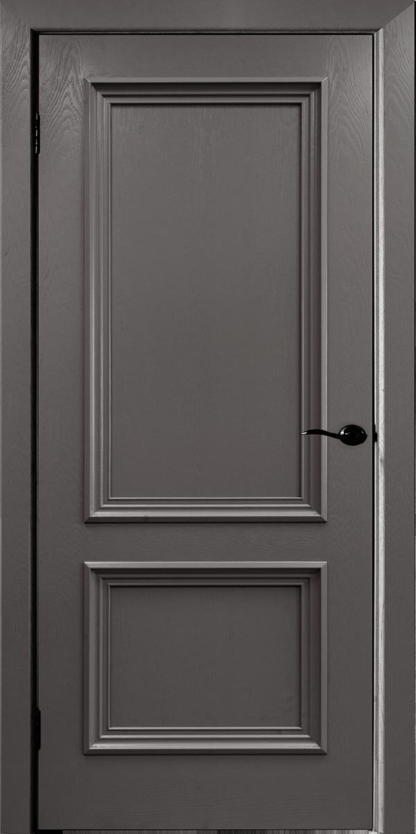 Дверь межкомнатная с коробкой Бергамо-4 гриджио ДГ
