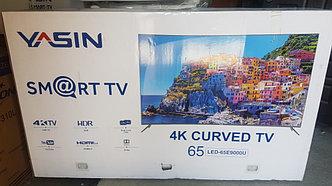Телевизор YASIN LED 65U9000 SMART, WI-FI, 4K, Изогнутый Экран