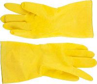 Перчатки DEXX латексные, х/б напыление, рифлёные, L