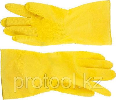 Перчатки DEXX латексные, х/б напыление, рифлёные, L, фото 2