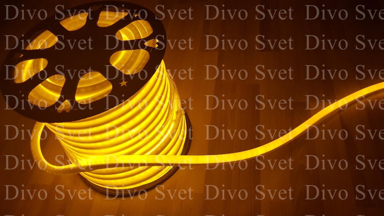 Флекс неон желтый 1,5*2,5 см SMD, гибкий неон. Неоновый подсветка, подсветка зданий, Led flex neon