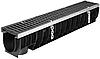 DN100 Лоток водоотводный Gidrolica Super ЛВ -10.14,5.15,5 - пластиковый, кл. Е600