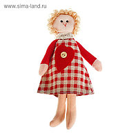 """Мягкая игрушка кукла """"Ариша"""" сердечко на платье, цвета МИКС"""