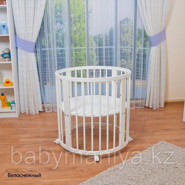 Круглая-Овальная Кроватка 3 в 1 ОЛИВИЯ Ведрус (Россия) NEW Белая