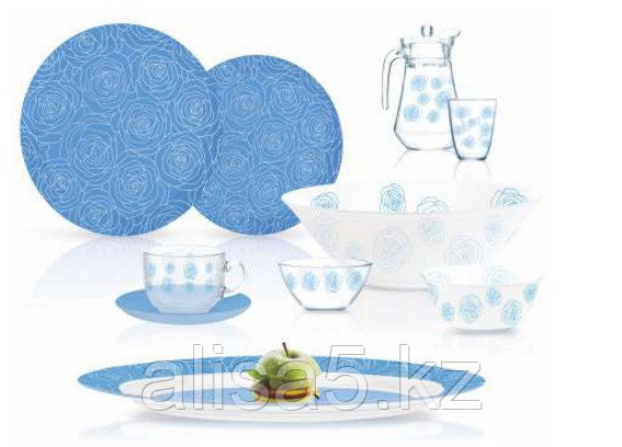 Dalyeza blue сервиз столовый 46 предметов на 6 персон