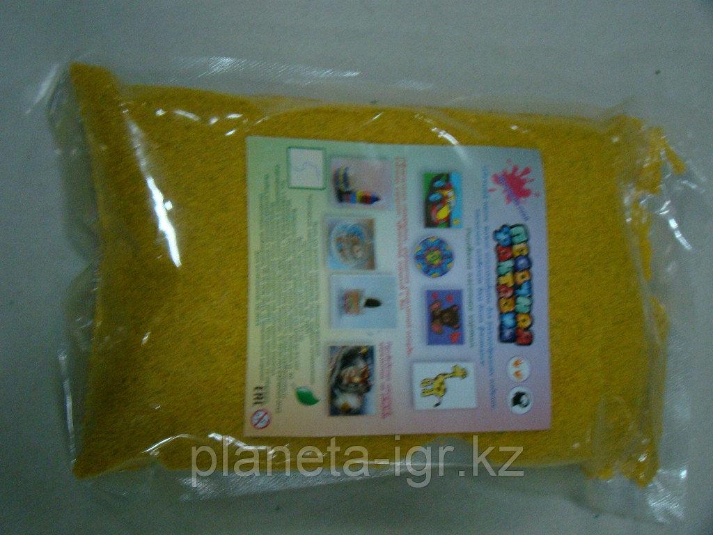 """Цветной песок. Песок в пакете """"Желтый"""" (№5) арт.405 (1000гр.)"""