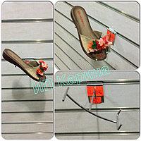 Полка обувная наклонная 90 градусов под мысок правая хром на Экономные - декор - панели