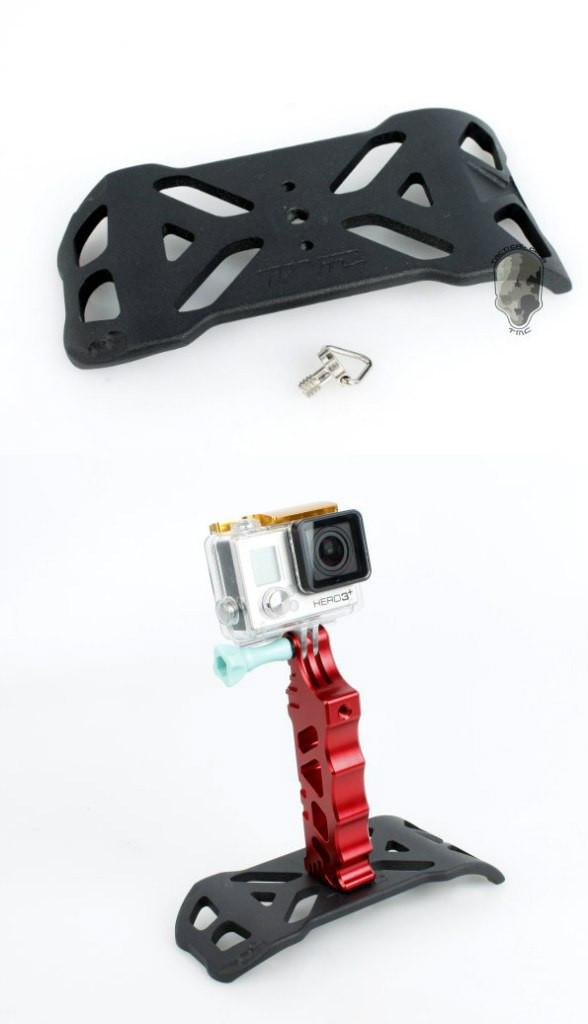 Алюминиевая подставка для тактической ручки для GoPro 5/4/3+/3/SJCAM/Xiaomi