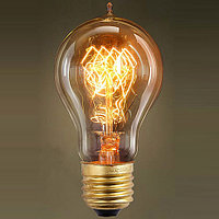 Ретро лампочка в стиле лофт