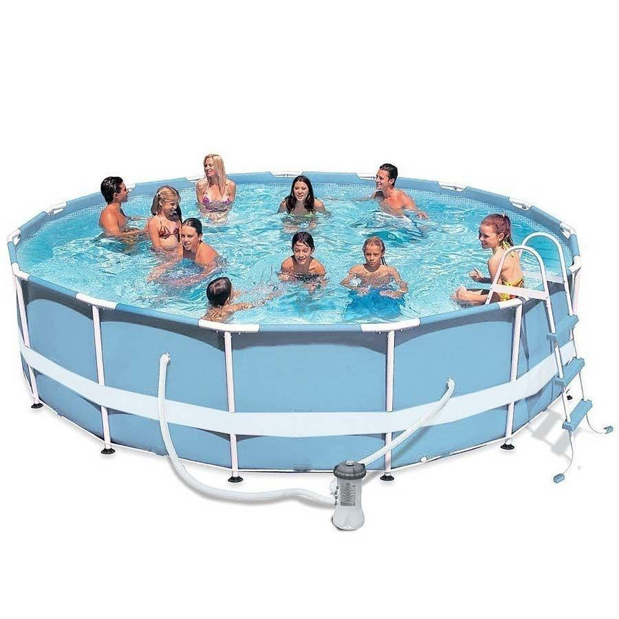 "Каркасный бассейн семейный ""Intex Metal Frame Pool"" (457* 122 см)"