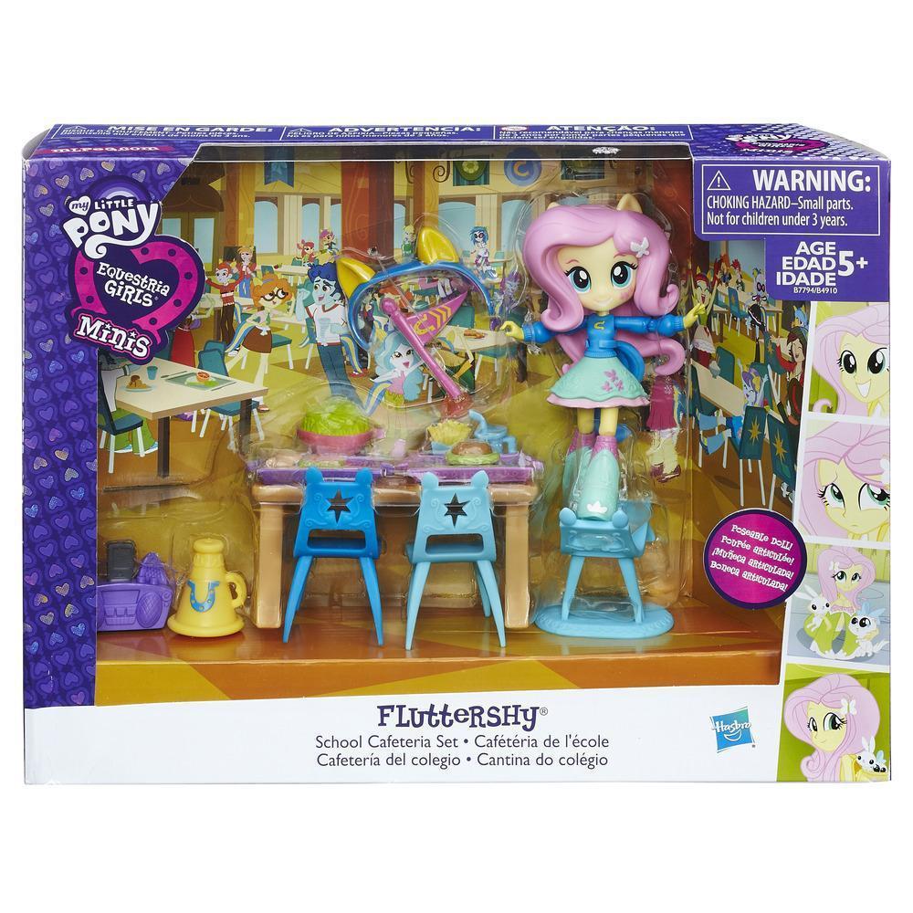 Equestria Girls Набор мини-кукол Флаттершай «Школьное кафе»Готовы к потрясающей вечеринке? Вечеринка в традици