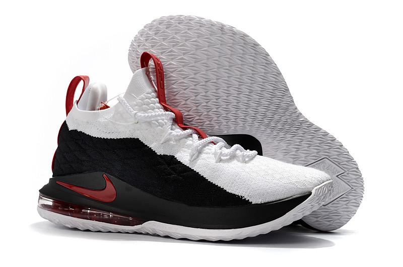 Баскетбольные кроссовки Nike Lebron 15 Low (низкие) Black\White