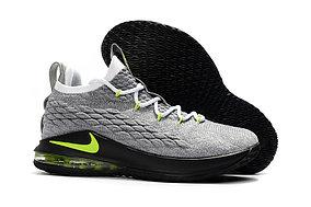 Баскетбольные кроссовки Nike Lebron 15 Low (низкие) gray\green