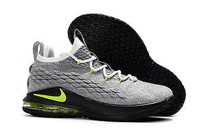 Баскетбольные кроссовки Nike Lebron 15 Low (низкие) gray\green, фото 2