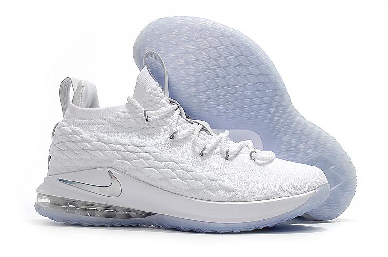 Баскетбольные кроссовки Nike Lebron 15 Low (низкие) White