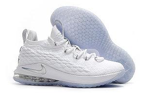 Баскетбольные кроссовки Nike Lebron 15 Low (низкие) White, фото 2