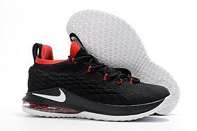 Баскетбольные кроссовки Nike Lebron 15 Low (низкие) Black\red