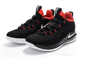 Баскетбольные кроссовки Nike Lebron 15 Low (низкие) Black\red, фото 2
