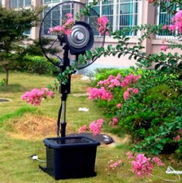 Вентилятор с водораспылителем для кафе и дома