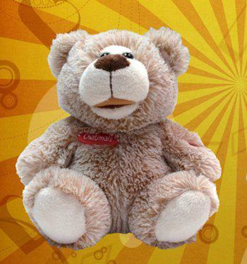 Chatimals Интерактивный Бежевый медведь-повторюшка