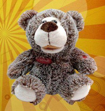 Chatimals Интерактивный Коричневый медведь-повторюшка