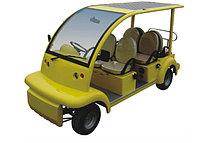 Гольфкар с солнечной батареей 125W желтого цвета 6-ти местный