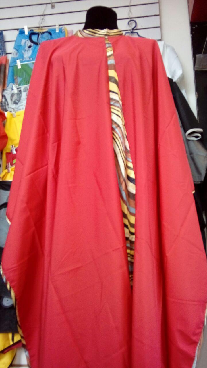 Пеньюар К023 с галстуком красный/черный