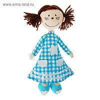 """Мягкая игрушка кукла """"Зоя"""" платье в клеточку, цвета МИКС"""