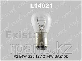 Галогенная лампа LYNXAUTO P21/4W