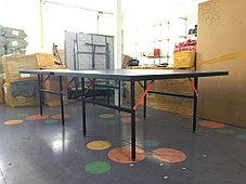 Большой теннисный стол GF-1257 (синий) +сетка, фото 2