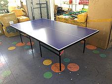 Большой теннисный стол GF-1257 (синий) +сетка, фото 3