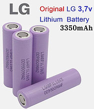 Аккумуляторные элементы 18650 LG3 F1L  3,7v  3350 ma/h,ток разряда 5A.