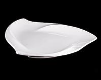 """Тарелка треугольная плоская 10"""" 25 см(70 шт в коробке)"""