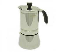 9410 FISSMAN Гейзерная кофеварка на 6 порций / 365 мл (нерж. сталь)