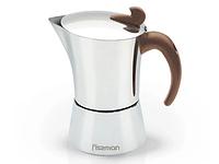 9415 FISSMAN Гейзерная кофеварка на 6 порций / 360 мл (нерж. сталь)