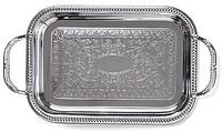 9424 FISSMAN Поднос металлический прямоугольный 35x24 см хромированный