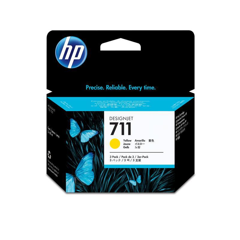HP Картридж CZ136A №711 желтый