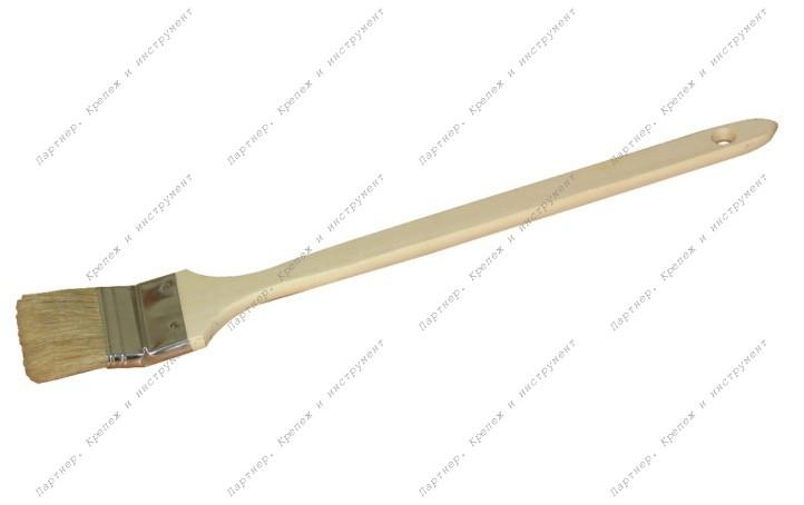 """(01-2-020) Кисть радиаторная, дерев.рукоятка, 2"""", (Hobbi)"""
