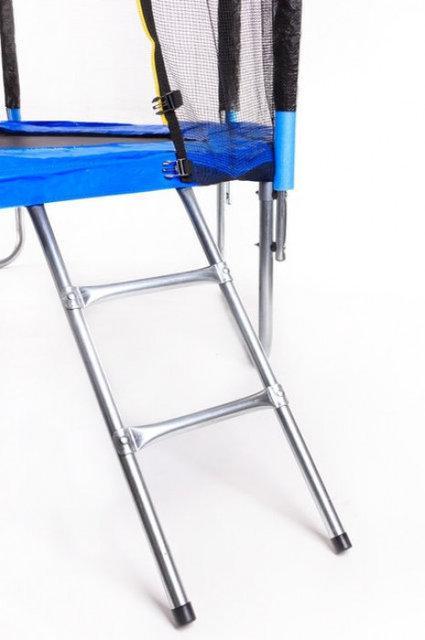 Батут 12 футов 366см с защитной сеткой и лестницей 4 ноги - фото 3