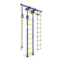 Шведская стенка РОМАНА, лестница гимнастическая, кольца, канат, лестница верёвочная