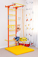 Шведская стенка ROMANA, канат трапеция, турник, кольца гимнастические, лестница гимнастическая