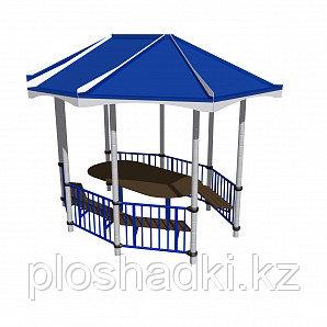 Беседка со столом Romana, синяя