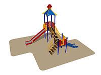 Игровой комплекс Romana, горки, лестницы, домик с крышей, фото 1